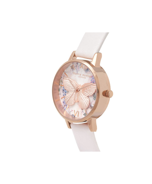 OLIVIA BURTON LONDON Glasshouse Vegan Blush & Rose GoldOB16GH07 – Midi Dial Round in Rose Gold and Pink - Side view