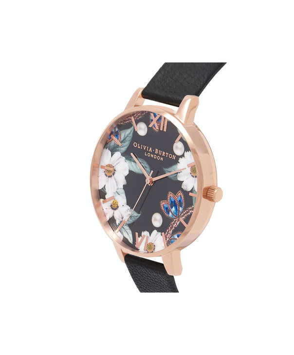 OLIVIA BURTON LONDON  Bejewelled Rose Gold Watch OB16BF04 – Big Dial Round Rose Gold - Side view