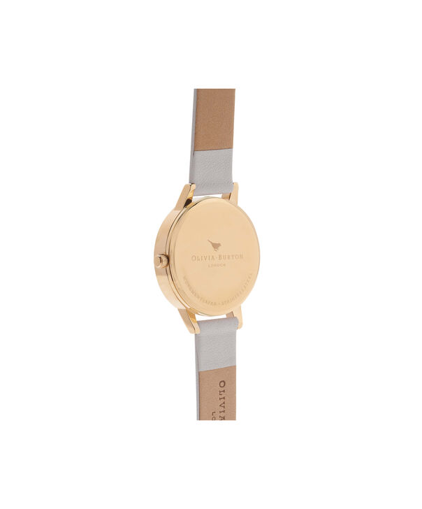 OLIVIA BURTON LONDON  Midi Dial Blush And Gold Watch OB16MD74 – Midi Dial Round in Gold and Blush - Back view