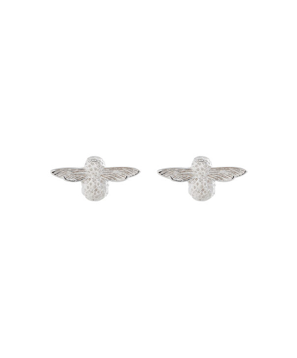 OLIVIA BURTON LONDON 3D Bee Studs Silver OBJ16AME24 – 3D Bee Stud Earrings - Front view