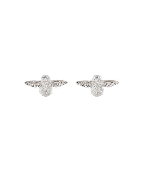 OLIVIA BURTON LONDON 3D Bee Studs Silver OBJ16AME24 – 3D Bee Stud Earrings - Front view