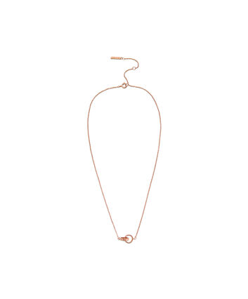 OLIVIA BURTON LONDON Interlink Necklace Rose GoldOBJ16ENN55 – Interlink Necklace Rose Gold - Front view
