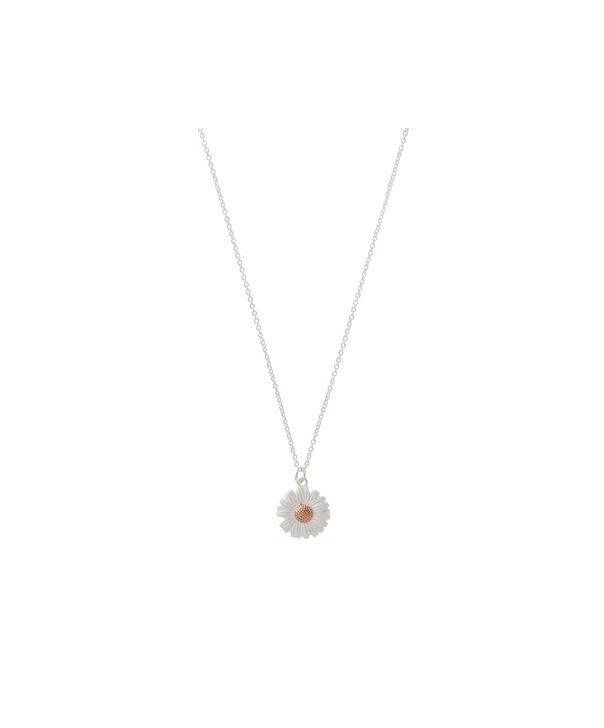 OLIVIA BURTON LONDON 3D Daisy Necklace Silver & Rose GoldOBJ16DAN04 – 3D Daisy Necklace - Front view