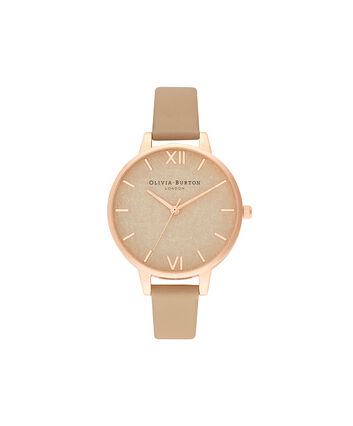 OLIVIA BURTON LONDON Woven Dial  Toffee & Pale Rose GoldOB16WV01 – Woven Dial  Toffee & Pale Rose Gold - Front view