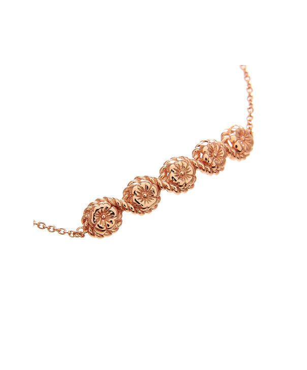 OLIVIA BURTON LONDON Flower Show Rope Chain Bracelet Rose Gold OBJ16FSB11 – Floral Charm Chain Bracelet - Side view