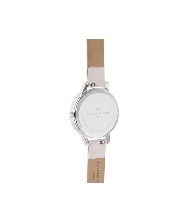 OLIVIA BURTON LONDON Midi Rose Quartz Blossom & SilverOB16SP19 – Midi Dial in Blossom and Silver - Back view