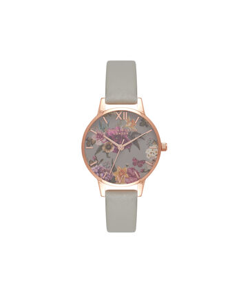 OLIVIA BURTON LONDON Dark BouquetOB16EG80 – Midi Dial in Rose Gold and Grey - Front view