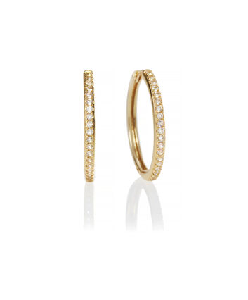 OLIVIA BURTON LONDON Hoop Earrings Cubic Zirconia & GoldOBJ16COE12 – 0 - Front view
