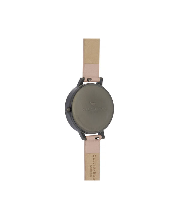 OLIVIA BURTON LONDON Twilight Demi Dial Watch with Lilac Mother-Of-PearlOB16TW02 – Demi Dial in pink and Gunmetal - Back view