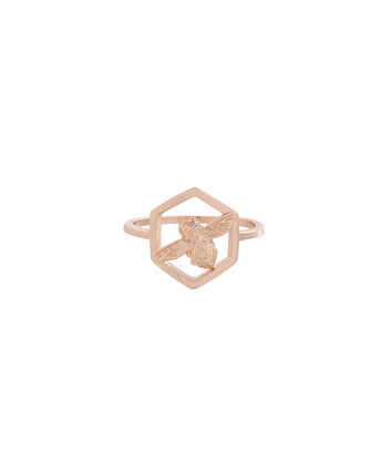 OLIVIA BURTON LONDON Honeycomb BeeOBJ16AMR06 – Honeycomb Bee Ring - Front view