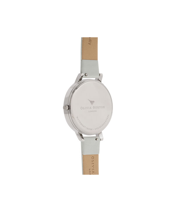 OLIVIA BURTON LONDON  Queen Bee Big Dial Silver Watch OB16AM116 – Big Dial Round in White and Silver - Back view