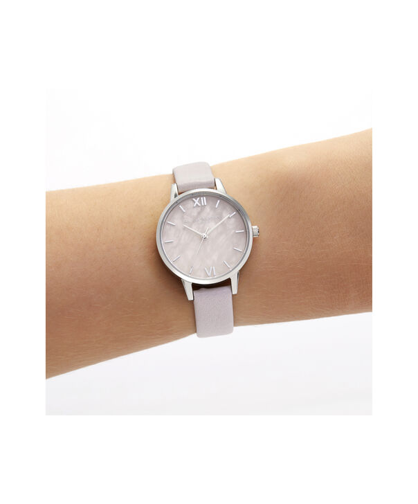 OLIVIA BURTON LONDON Midi Rose Quartz Blossom & SilverOB16SP19 – Midi Dial in Blossom and Silver - Other view