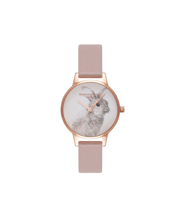 Ladies Woodland Bunny Rose & Rose Gold Watch | Olivia Burton London