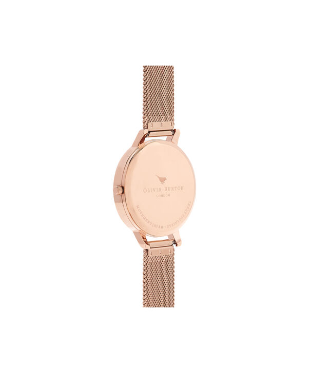OLIVIA BURTON LONDON Big Dial Rose Gold Sunray Mesh WatchOB16BD102 – Big Dial in Rose Gold - Back view