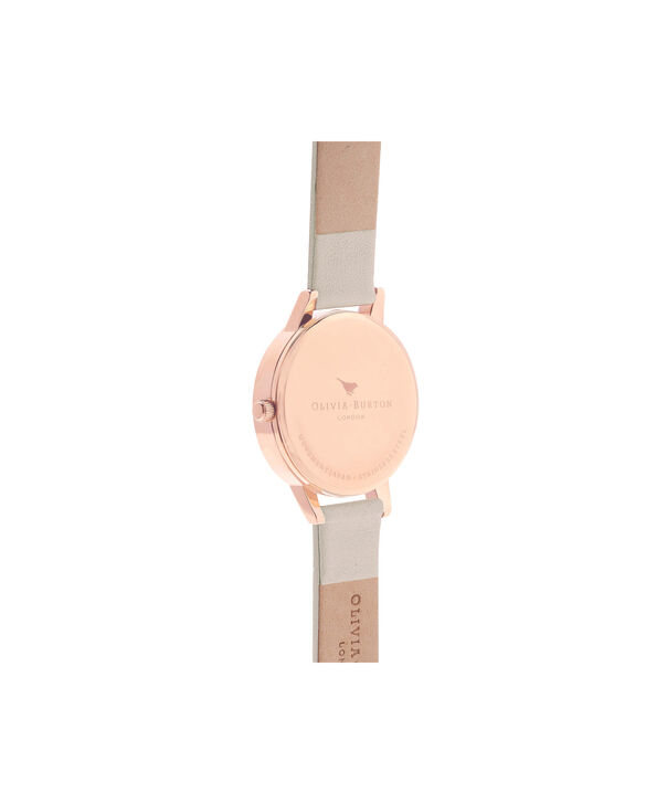 OLIVIA BURTON LONDON  Wonderland Nude & Rose Gold Watch OB16WD65 – Midi Dial Round in Rose Gold and Nude - Back view
