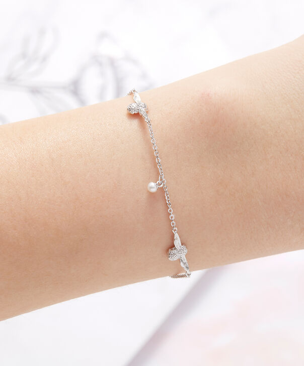 OLIVIA BURTON LONDON  Pearl Bee Chain Bracelet Silver OBJ16AMB42 – Pearl Bee Chain Bracelet - Other view