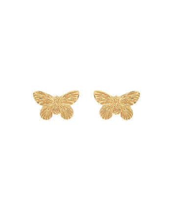 OLIVIA BURTON LONDON  3D Butterfly Stud Earrings Gold OBJ16MBE01 – 3D Butterfly Stud Earrings - Front view