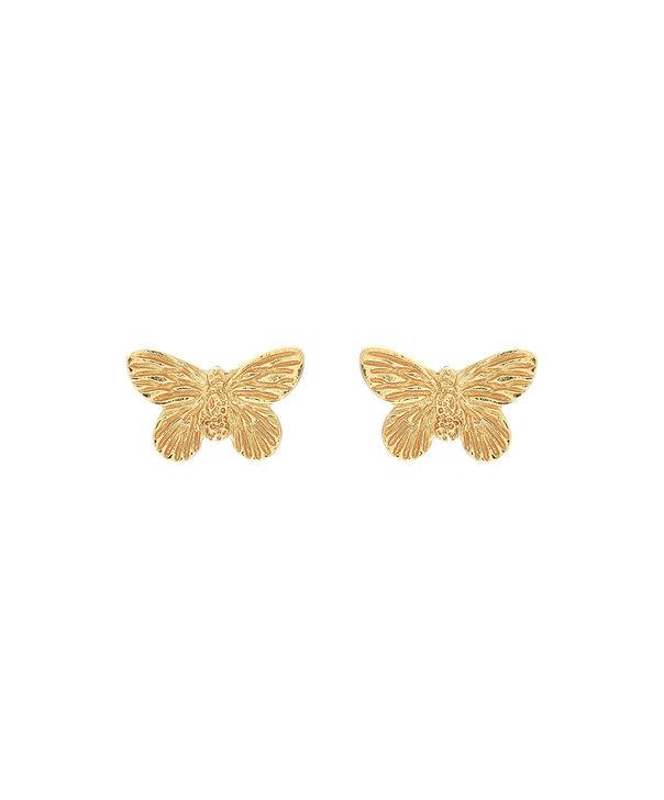 OLIVIA BURTON LONDON 3D Butterfly Stud Earrings GoldOBJ16MBE01 – 3D Butterfly Stud Earrings - Front view