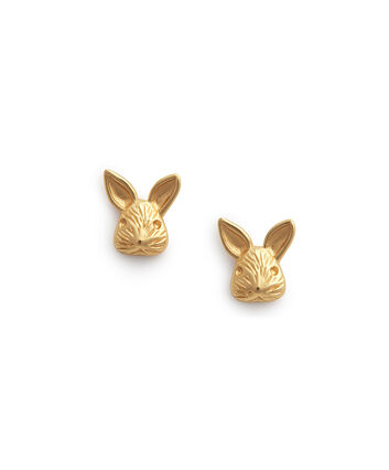 OLIVIA BURTON LONDON 3D Bunny Studs GoldOBJAME109 – 3D Bunny Studs Gold - Front view
