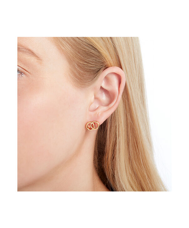 OLIVIA BURTON LONDON The Classics Interlink Earrings GoldOBJCOE73 – SHOPBAG_LABEL - Other view