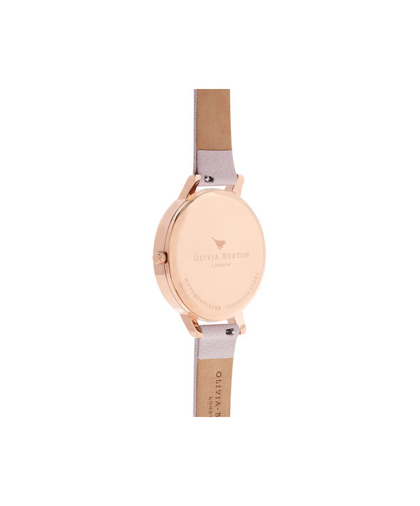 OLIVIA BURTON LONDON  Pretty Blossom Rose Gold & Blossom Watch OB16PL35 – Big Dial Round in Rose Gold and Blossom - Back view