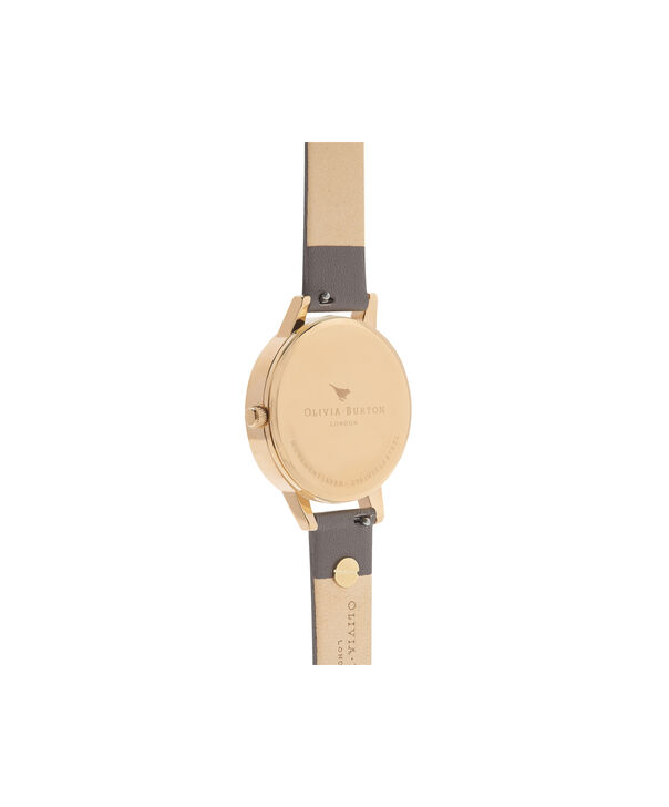 OLIVIA BURTON LONDON  Enchanted Garden London Grey & Gold OB16EG109 – Midi Dial Round in Gold and Grey - Back view
