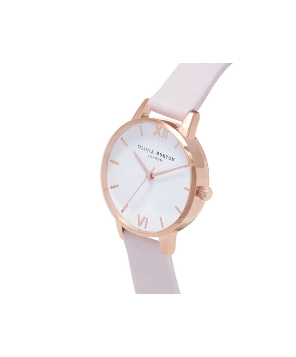 OLIVIA BURTON LONDON  Midi Dial Blossom & Rose Gold Watch OB16MDW36 – Midi Dial Round in White and Blossom - Side view
