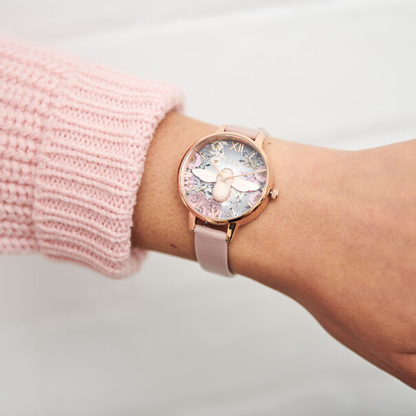 OLIVIA BURTON LONDON British Blooms 3D Bee, Vegan Rose & Rose GoldOB16EG134 – British Blooms 3D Bee, Vegan Rose & Rose Gold - Other view
