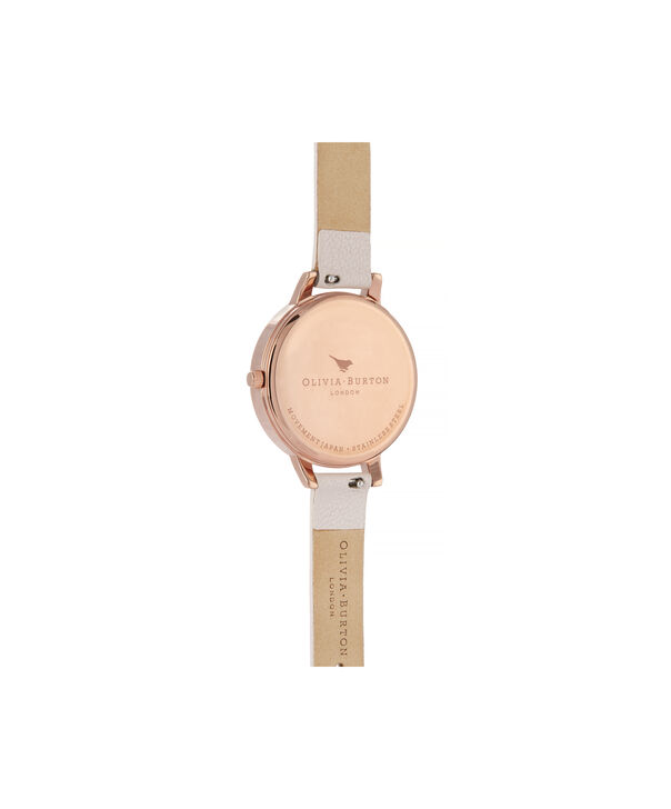 OLIVIA BURTON LONDON Watercolour Florals Demi Dial Watch with Nude Mother-Of-PearlOB16PP53 – Demi Dial in pink and Rose Gold - Back view