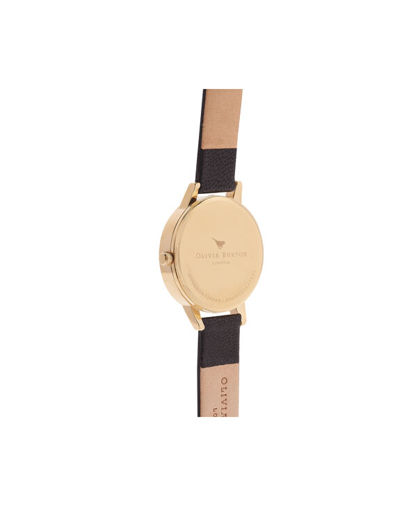 OLIVIA BURTON LONDON Vegan Friendly Woodland Bunny Black & Gold WatchOB15WL57 – Midi Dial Round in White and Black - Back view
