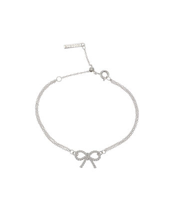OLIVIA BURTON LONDON  Vintage Bow Chain Bracelet Silver OBJ16VBB03 – Vintage Bow Chain Bracelet - Front view