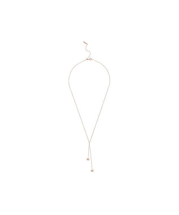 OLIVIA BURTON LONDON  Vintage Bow Lariat Necklace Rose Gold OBJ16VBN27 – Vintage Bow Lariat Necklace - Front view