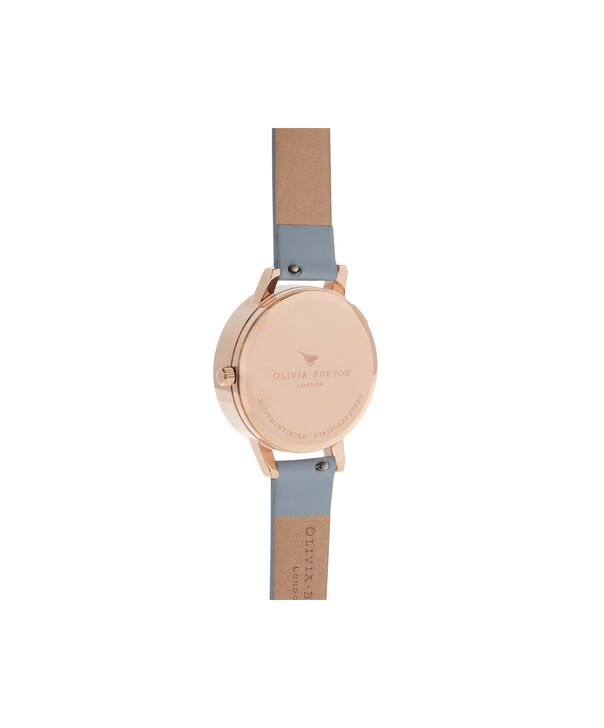 OLIVIA BURTON LONDON  Bejewelled Silver & Rose Gold Watch OB16BF07 – Midi Round Silver and Rose Gold - Back view