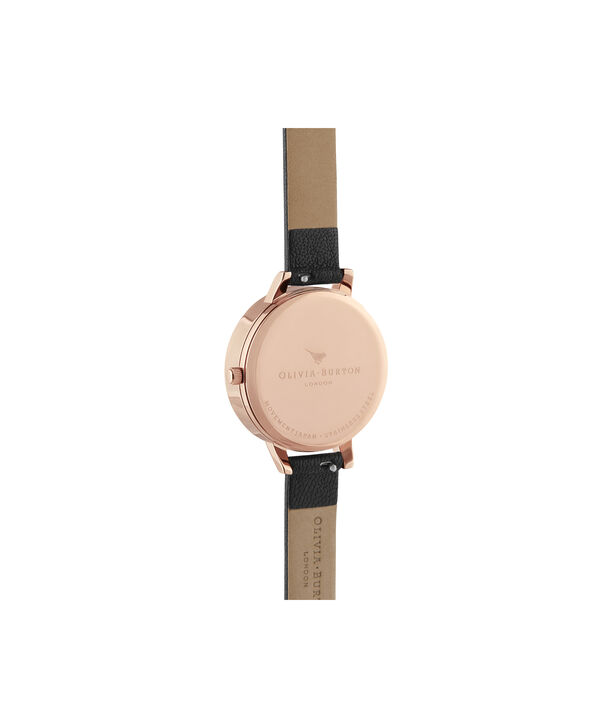 OLIVIA BURTON LONDON Meant to Bee Demi Black & Rose GoldOB16AM165 – Demi Dial In Black And Rose Gold - Back view