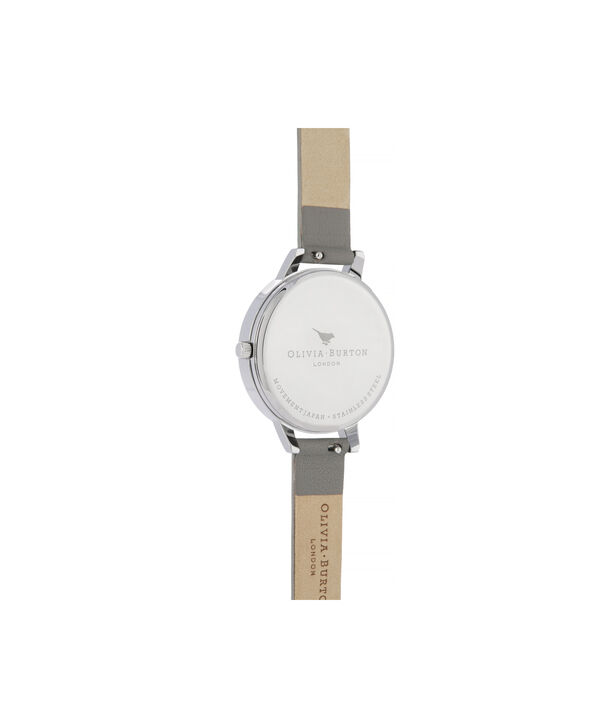 OLIVIA BURTON LONDON Lace Detail Sunray Demi Dial WatchOB16MV96 – Demi Dial in grey and Silver - Back view