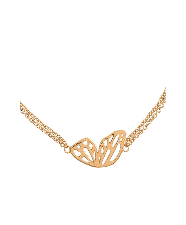 OLIVIA BURTON LONDON  Butterfly Wing Chain Bracelet GoldOBJ16EBB01 – Butterfly Wing Chain Bracelet - Side view