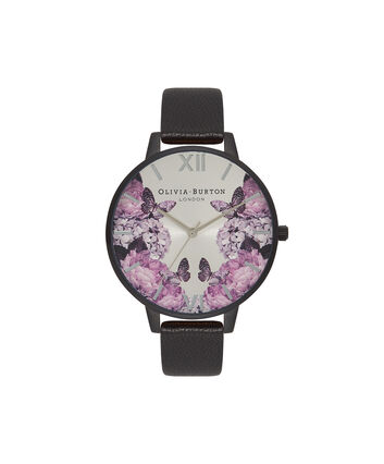 OLIVIA BURTON LONDON After DarkOB16AD10 – Big Dial Round in Floral and White - Front view