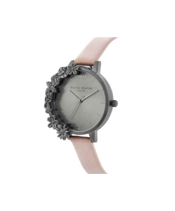 OLIVIA BURTON LONDON Twilight Case Cuff Demi Dial WatchOB16TW06 – Demi Dial in pink and Gunmetal - Side view