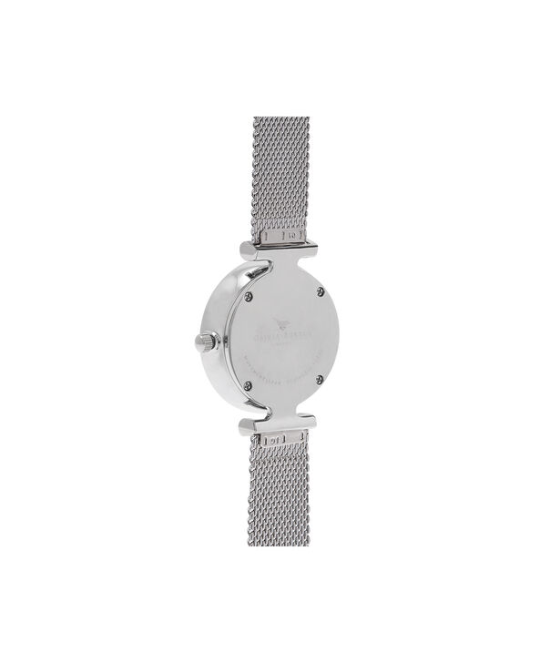 OLIVIA BURTON LONDON  Queen Bee Blue Mother of Pearl Silver Mesh OB16AM151 – Midi Dial Round in Silver - Back view