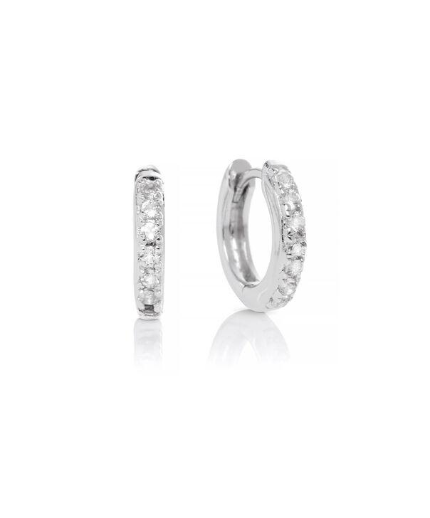 OLIVIA BURTON LONDON Huggie Hoop Earrings with White TopazOBJ16COE20 – Huggie Hoop Earrings - Front view