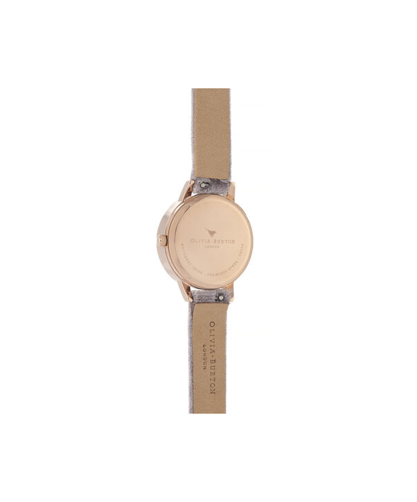 OLIVIA BURTON LONDON 3D Bee Midi Dial Watch with VelvetOB16AM160 – Midi Dial in grey and Rose Gold - Back view