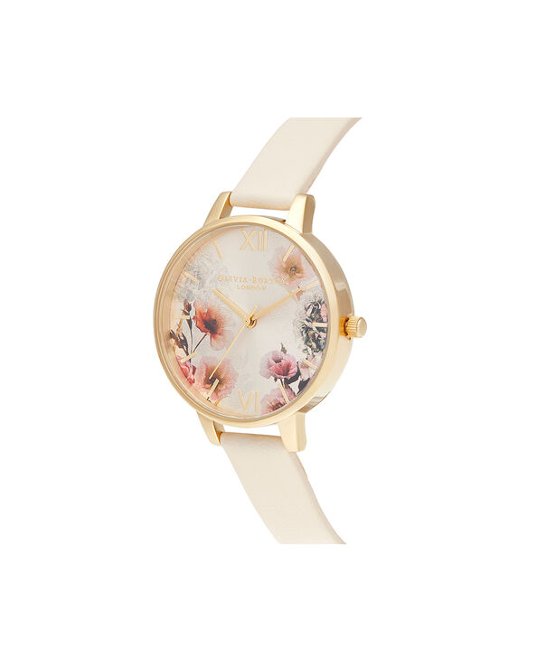 OLIVIA BURTON LONDON Sunlight Florals Vegan Nude & GoldOB16EG118 – Sunlight Florals Vegan Nude & Gold - Side view