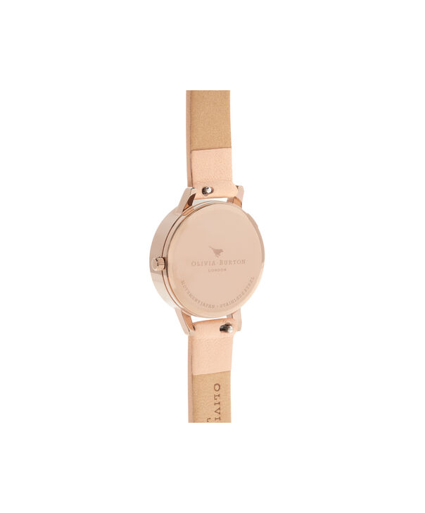 OLIVIA BURTON LONDON  Glasshouse Nude Peach & Rose Gold OB16EG98 – Midi Dial Round in Nude and Rose Gold - Back view