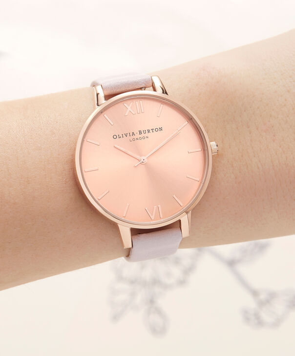 OLIVIA BURTON LONDON  Sunray Dial Blossom & Rose Gold OB16BD110 – Big Dial Round in Rose Gold and Pink - Other view