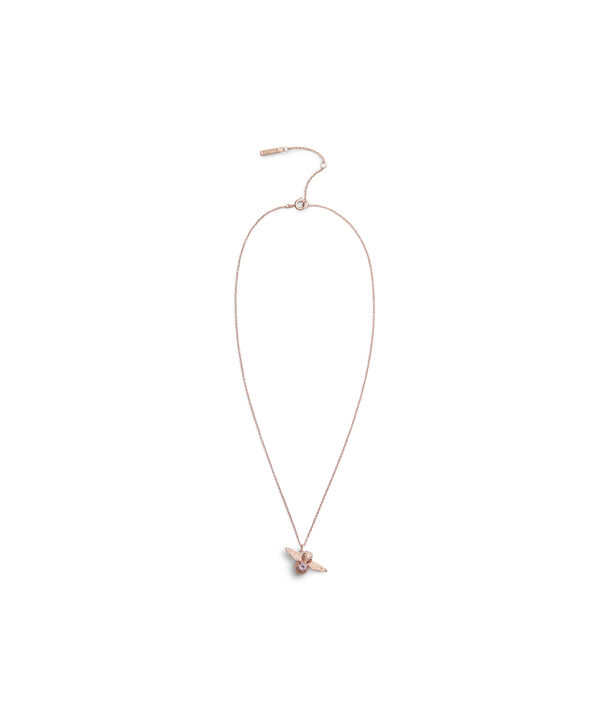 OLIVIA BURTON LONDON Bejewelled Bee Necklace Rose Gold & AmethystOBJAMN43 – Necklace in Rose Gold - Side view
