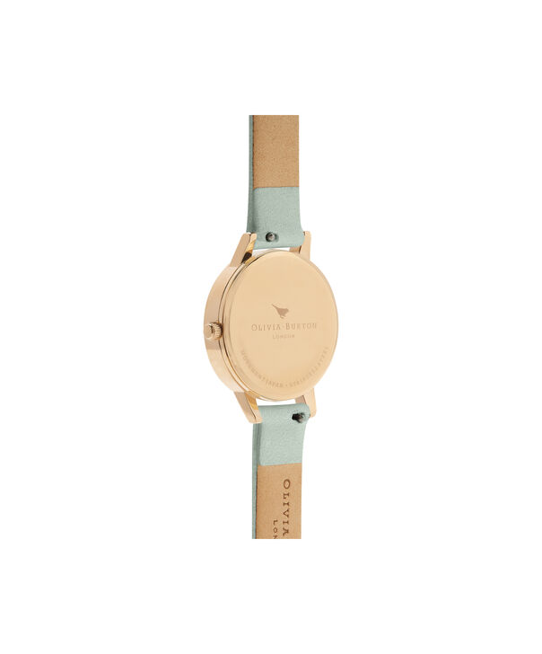 OLIVIA BURTON LONDON  White Dial Sage & Gold OB16MDW37 – Big Dial Round in Gold - Back view