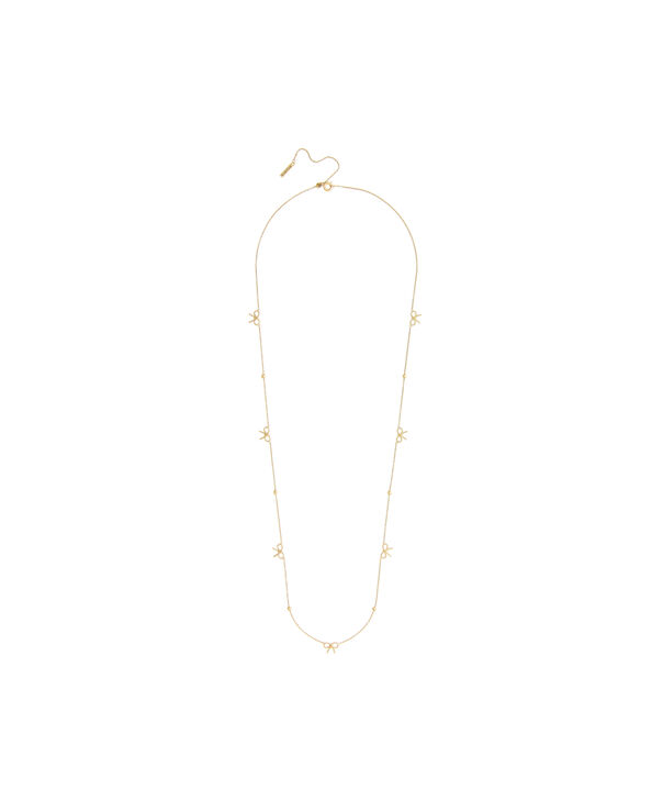 OLIVIA BURTON LONDON  Bow and Ball Necklace Gold OBJ16VBN18 – Vintage Bow Chain Necklace - Front view