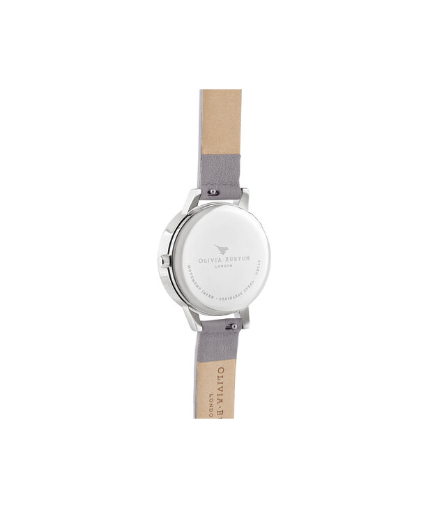 OLIVIA BURTON LONDON 3D Bee Midi Dial Grey Lilac Rose Gold & SilverOB16AM163 – Demi Dial In Grey And Silver - Back view