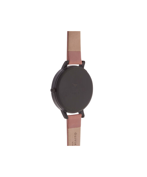 OLIVIA BURTON LONDON  After Dark Floral Matte Black Dial, Rose & Rose Gold Watch OB15FS60 – Big Dial Round in Floral and Rose - Back view