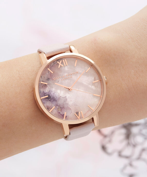 OLIVIA BURTON LONDON Semi Precious Blossom & Rose GoldOB16SP03 – Big Dial Round in Rose Gold - Other view